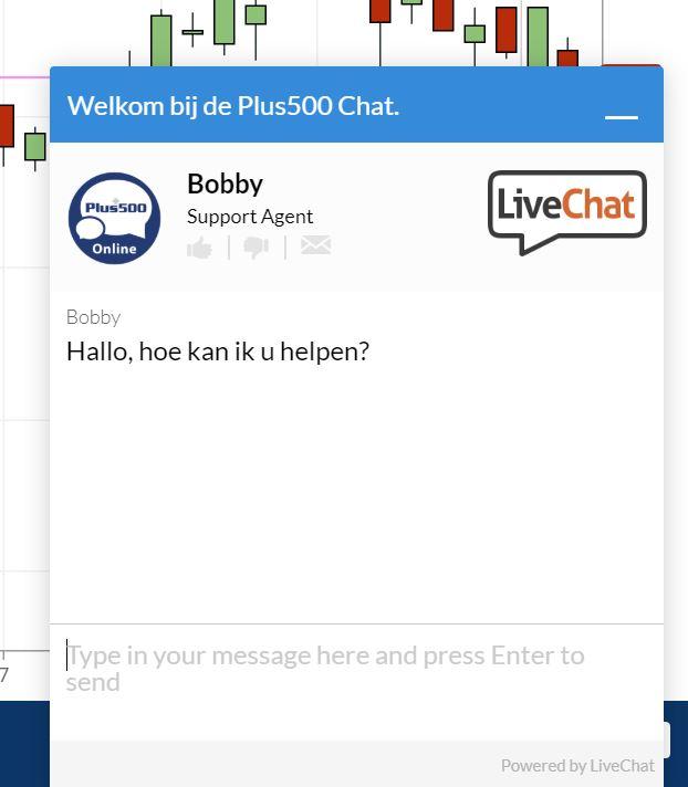 Live Chat van de klantenservice