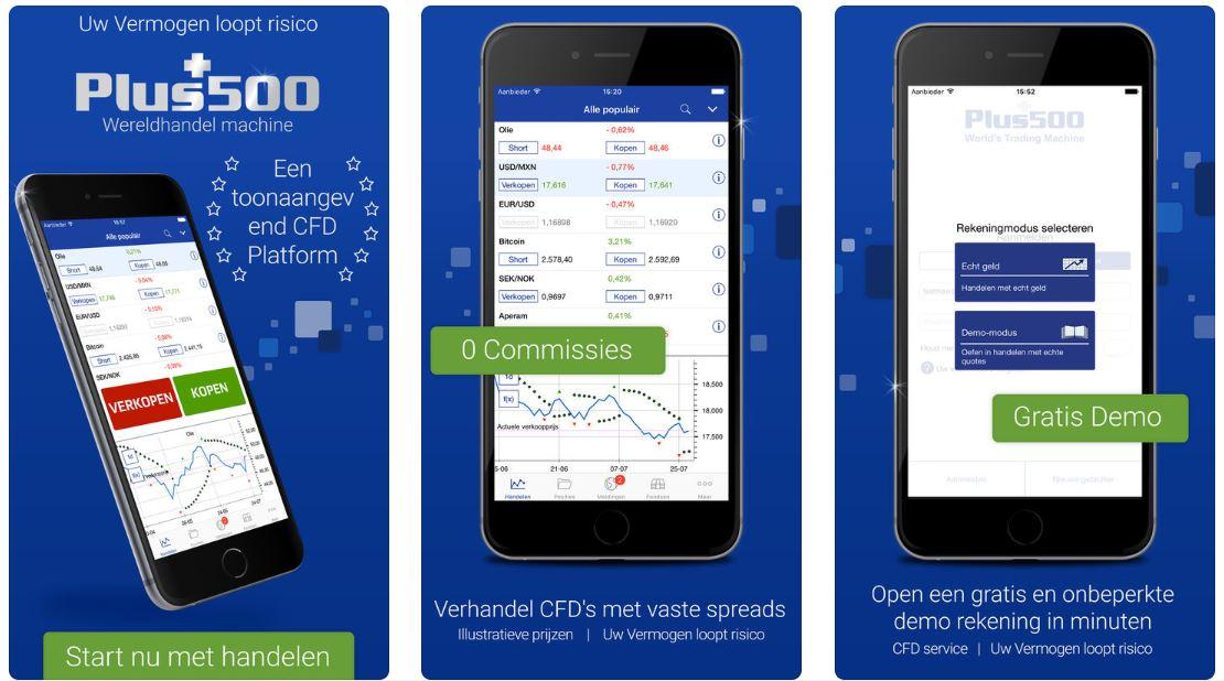 Plus500 mobiele app