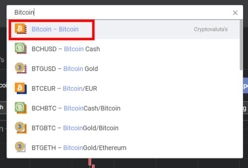 Zoek naar Bitcoin