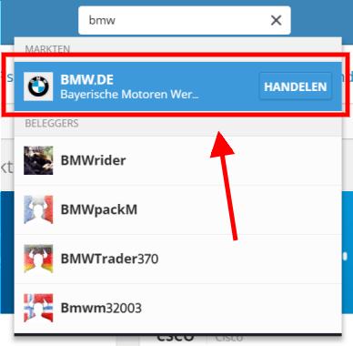 Aandeel BMW vinden