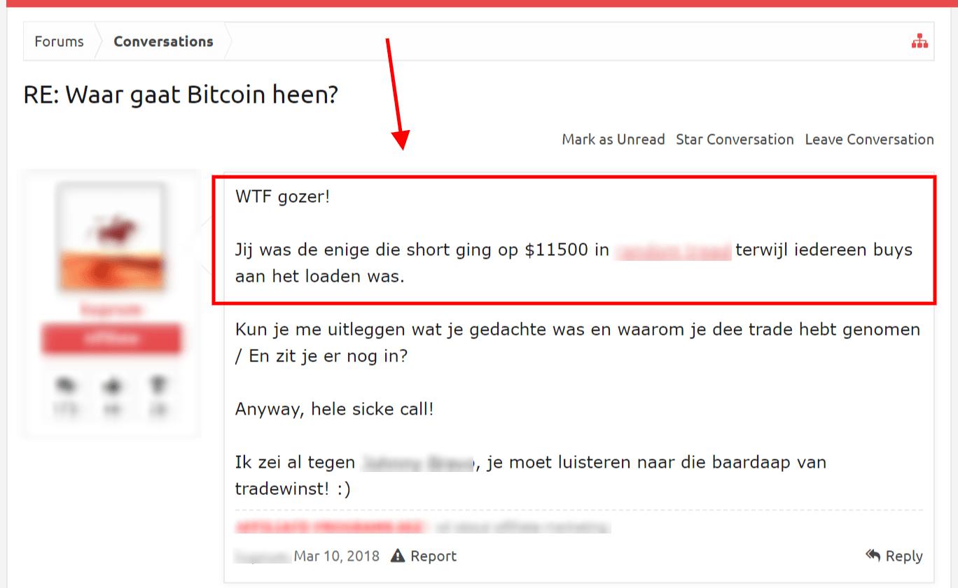 Forumbericht BTC short