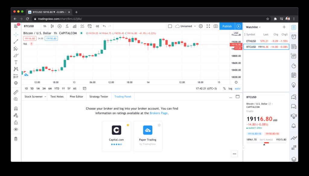 Broker koppelen met TradingView stap 1